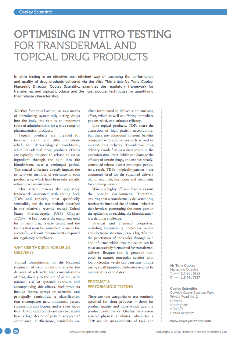Image for ONdrugDelivery Article: March 2016